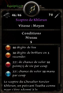 Sceptre de Khleran stats (fin texte nécromancie)