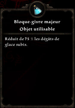 Bloque-givre majeur