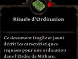 Rituels d'Ordination
