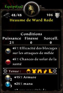 Heaume de Ward Rede