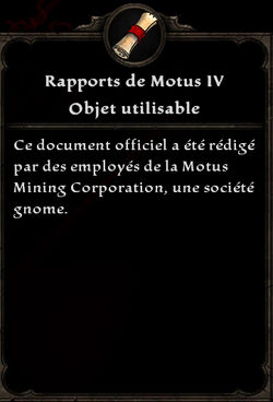 Rapports de Motus 4