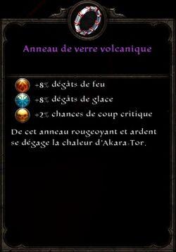 Anneau de Verre volcanique