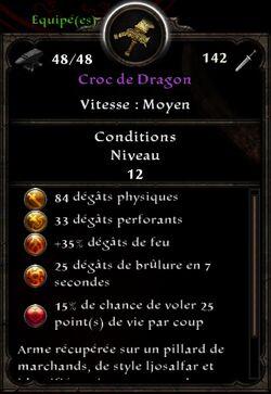 Croc de Dragon stats