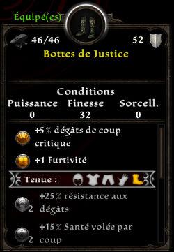 Bottes de Justice