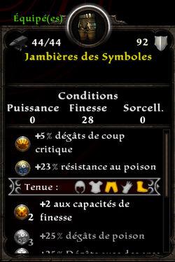 Jambières des Symboles