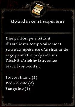 Gourdin orné supérieur formule