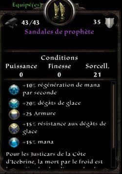 Sandales de Prophète stats