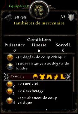 Jambiere mercenaire