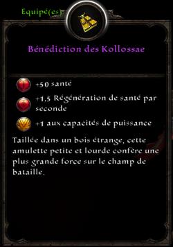 Bénédiction des Kollosae