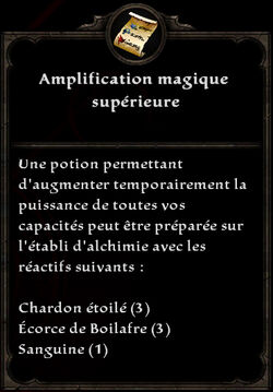 Amplification magique supérieure formule