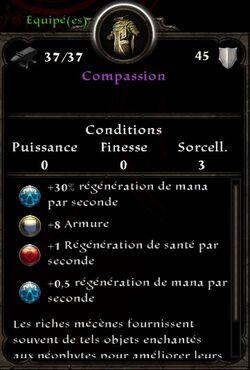 Compassion stats( fin texte chances de survie a la scholia arcana)