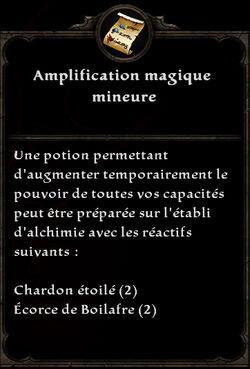 Amplification magique mineure formule