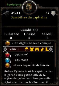 Jambieres capitaine