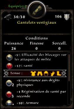 Gants Vestigiaux