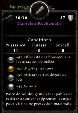 Gantelets Rochemain stats