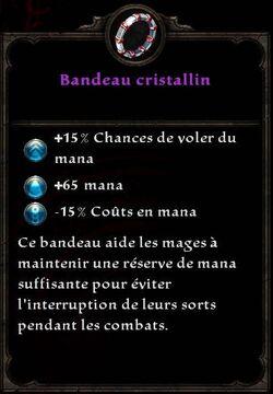 Bandeau cristallin