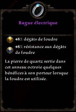 Bague électrique