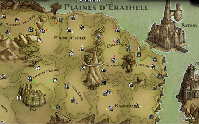 Plaines d'Erathell localisation