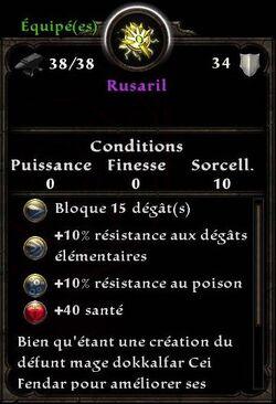 Rusaril stats