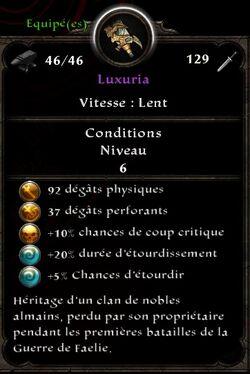 Luxuria stats