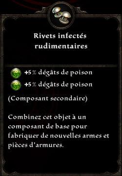 Rivets infectés rudimentaires