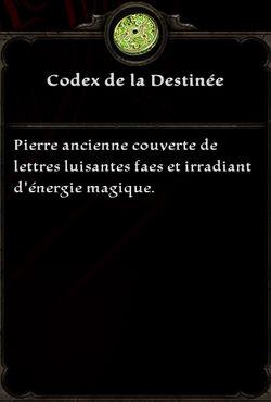 Codex de la Destinée