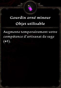 Gourdin orné mineur