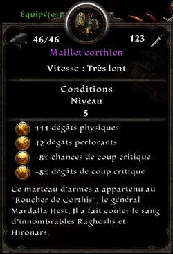 Maillet corthien stats