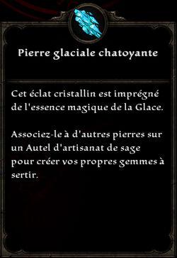 Pierre glaciale chatoyante