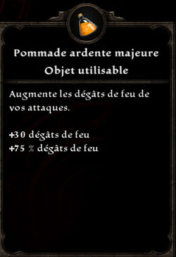 Pommade ardente majeure