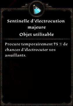 Sentinelle d'électrocution majeure