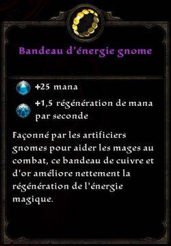 Bandeau d'énergie gnome