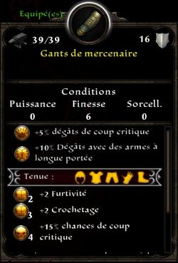 Gants mercenaire