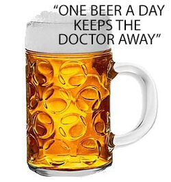 Bierkrug-Medizin