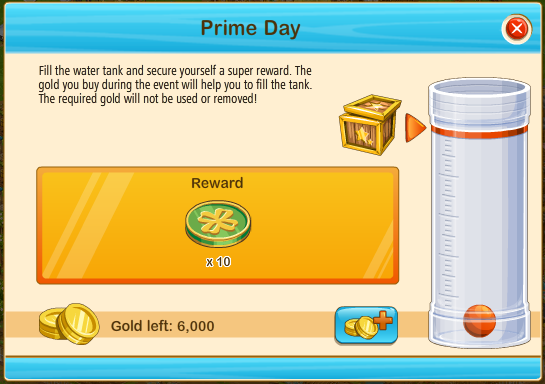Prime day tokens