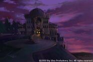 Mansion sunset