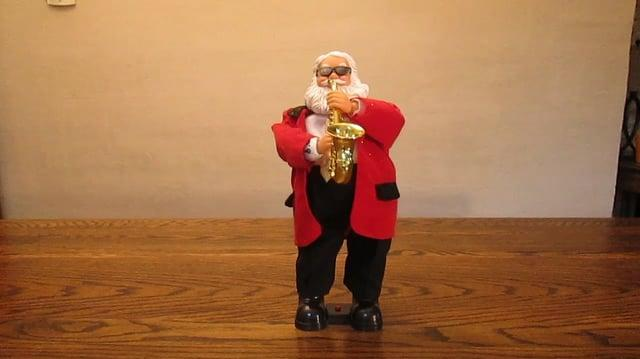 Gemmy Sax Playing Santa