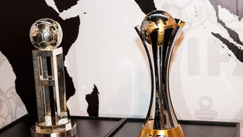 FIFA Club World Championship Cup and Club World Cup trophies