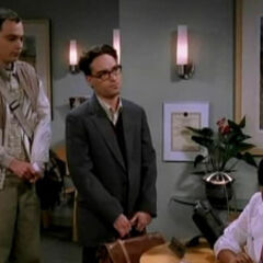 Sheldon and Leonard at the sperm center.