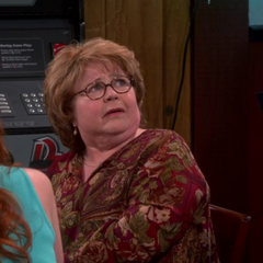 Natalie's grandmother, Grace. Sheldon's second choice.