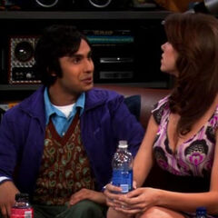 Raj hitting on Missy.