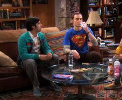 Sheldon drinks raj water