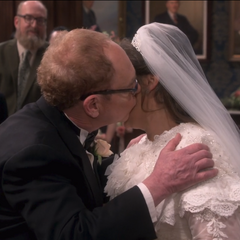 Mr. Fowler kisses Amy.
