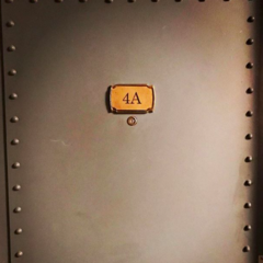 Leonard's apartment door.