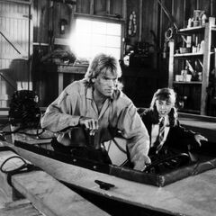 Mayim on <i>MacGyver</i> with Richard Dean Anderson.