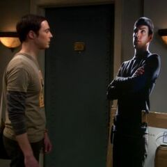 Sheldon and Spock cut-out.