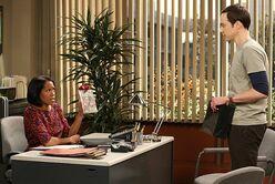 Janine Davis talks to Sheldon Cooper