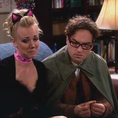 Upset Penny confides in Leonard.