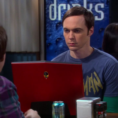 Sheldon frowns at the idea of challenging Stuart to a fight, like Howard suggested.