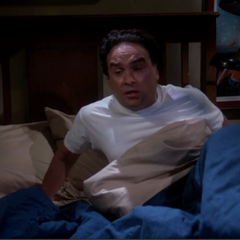 Leonard wakes from his nightmare.
